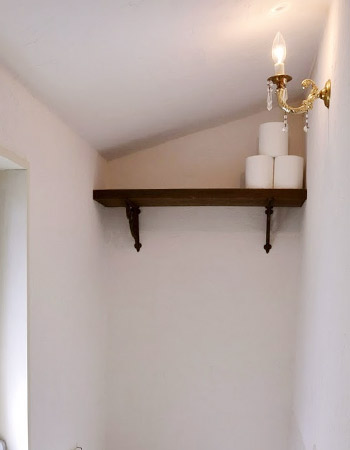 ヴィンテージプリズム付きキャンドルウォールランプ/アンティーク壁掛け照明ライト/実際の取り付け事例