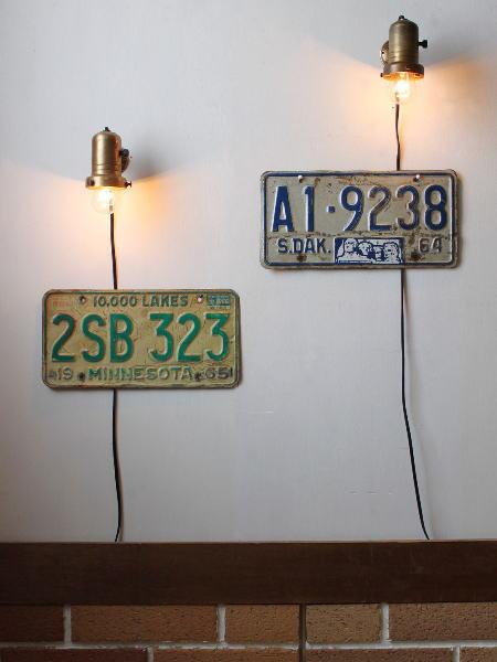 シェードホルダー付工業系ウォールランプA&B/アンティークライト