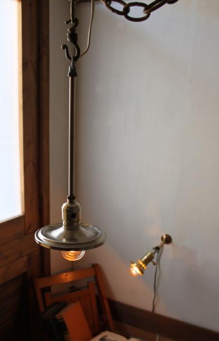 LEVITONソケット工業系シェード付吊下ライト/アンティークランプ 2011/02/28