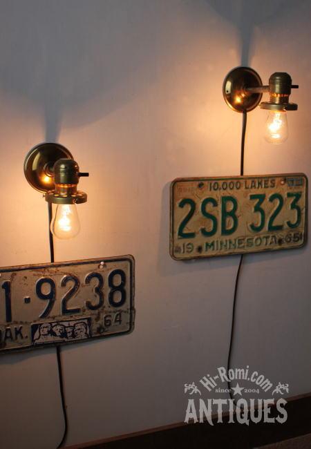 EAGLE工業系ギャラリー付真鍮壁掛ソケットライトB/アンティーク 2011/03/24