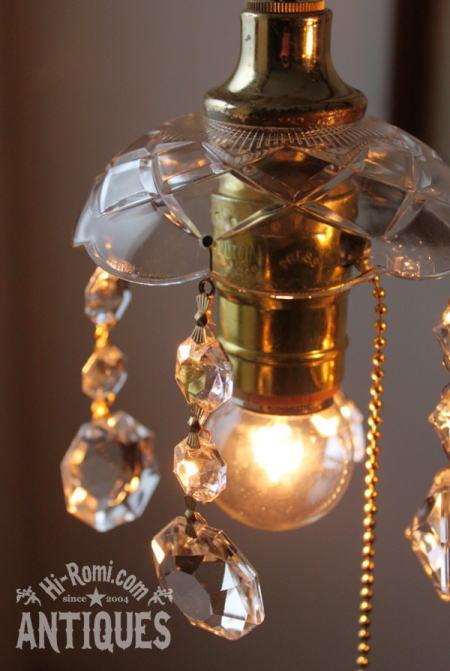 ガラスシェードプリズムランプA/アンティーク小シャンデリア照明 2011/03/24