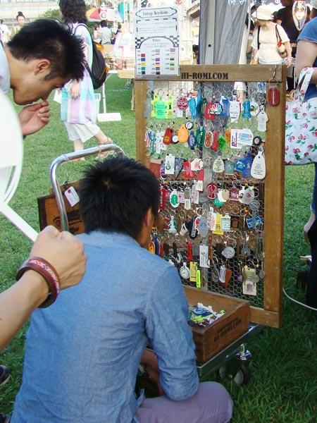 USAヴィンテージのキーチェーンは当店イベントの代名詞。大人から子供まで大人気です。