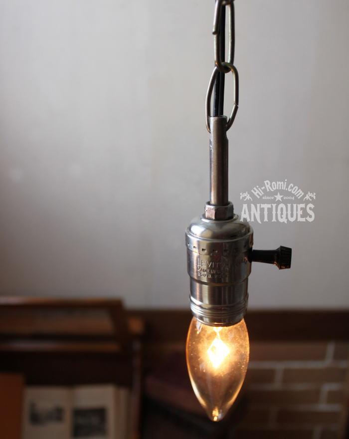 USA工業系チェーン付アルミ製ソケット吊下ライトA/アンティーク 2011/03/14