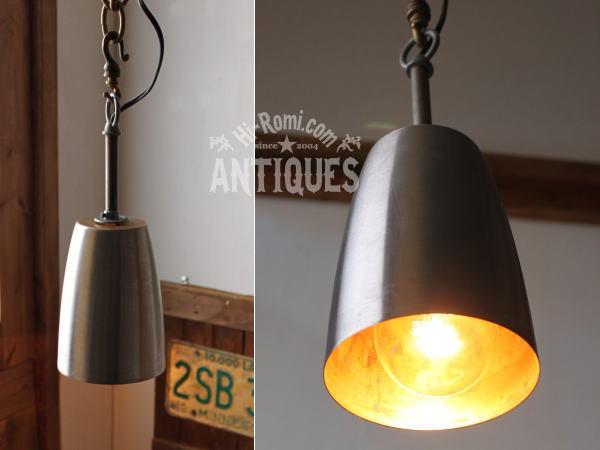 USA工業系シェード付ポール吊下げランプ/アンティーク照明ライト