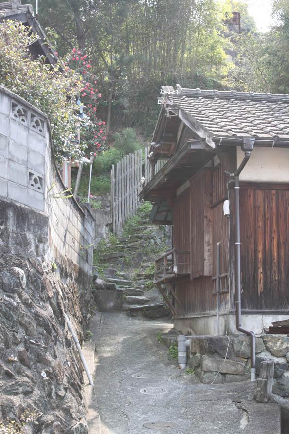愛宕山への道