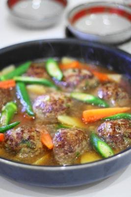 野菜たっぷり和風煮込みハンバーグ2
