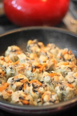 ひじきの煮物の蒸し焼きシュウマイ