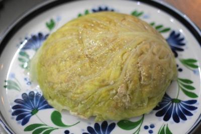 レンジで作る豆腐とひき肉のキャベツミルフィーユ14