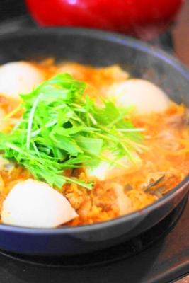 牡蠣と豚肉のスンドゥブチゲ1
