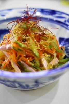 そうめんかぼちゃ(金糸瓜)の中華風サラダa