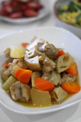 鶏肉と根菜と旨煮1