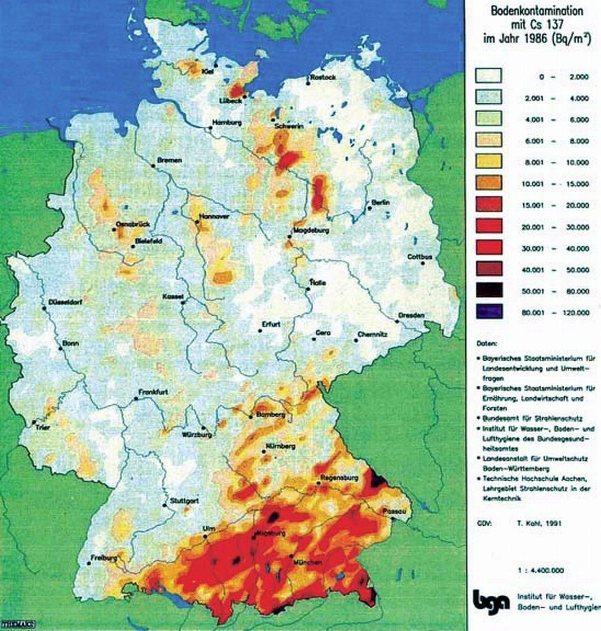 ドイツ セシウム137 チェルノブイリの影響