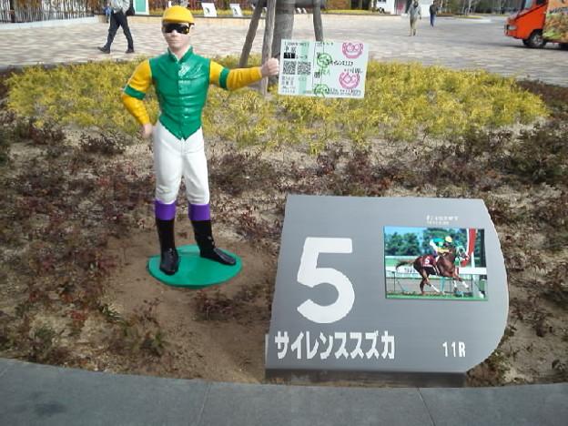 中京競馬場にて