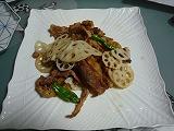 豚肉と蓮根の山椒唐辛子炒め