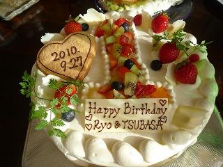 100925_御飯(バースデーケーキ)