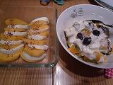 柿カプレーゼ&南瓜とモッツァレラサラダ
