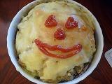 ハロウィンP(ジャンボマッシュルームのエッグ包み焼)