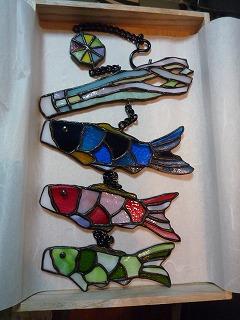 初節句ステンドグラスの鯉のぼり (1)