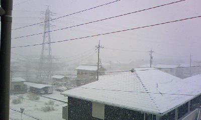 ベランダから雪景色
