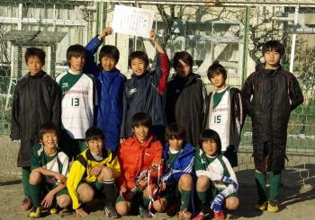 01/08スポーツ教室サッカー大会優勝(6年生)