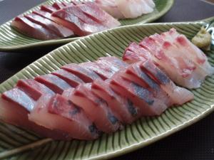 20101010鯛イナダの刺身