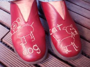 イタリア・マジョルカ島の皮靴