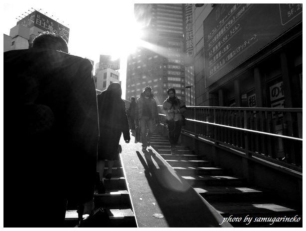 渋谷の歩道橋