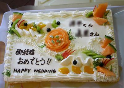 ウェディングケーキ承りました100804