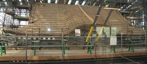 姫路城・修理中の屋根