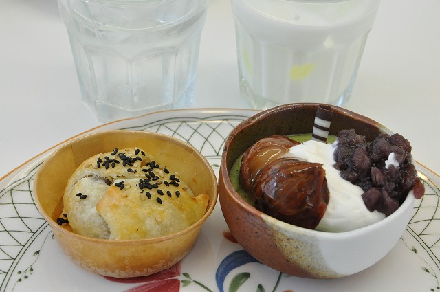 DSC_0132 四皿目 なつみパイ 130円、抹茶ムース 350円