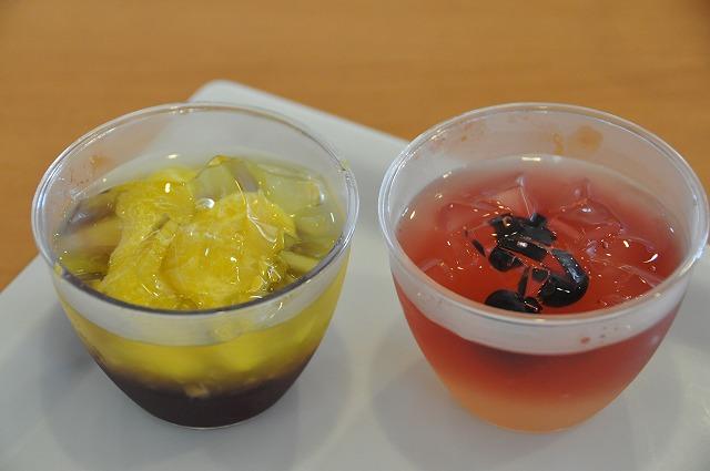 DSC_0264 8皿目 カクテルカラーゼリー (カシス&オレンジ)、(ベリー&ジンジャーティ) 各300円