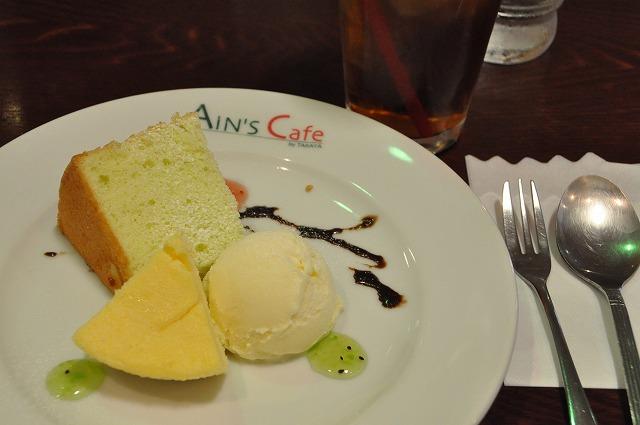 DSC_1430 一皿目 ニューヨークチーズケーキ、気まぐれシフォンケーキ、バニラアイス