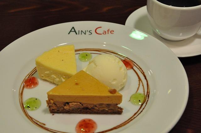 DSC_1439 三皿目 ニューヨークチーズケーキ、Ains de ショコラ,バニラアイス