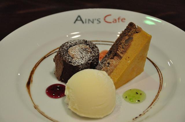 DSC_1460 八皿目 チョコレートのロールケーキ、Ains de ショコラ、バニラアイス