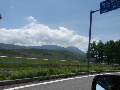 近づく蓼科山