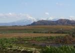 雪をかぶった越後三山