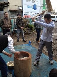 20111225餅つき①