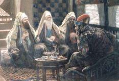 ヘロデ王を表敬訪問する 三賢者