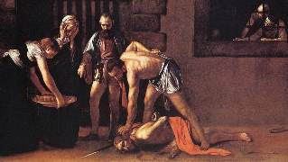 カラヴァッジオ「聖マタイの斬首 」(マルタ、バレッタ )