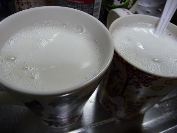 ホットジンジャーシロップミルク