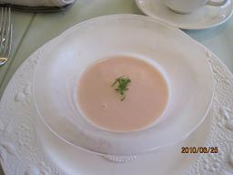 桃の冷たいスープ