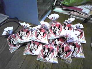 イベントおまけお菓子、この袋のは15個。