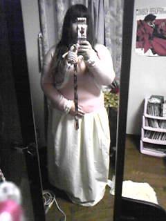 旦那作スカートの嫁着用例。普段着ではなくあくまでコスプレ用。