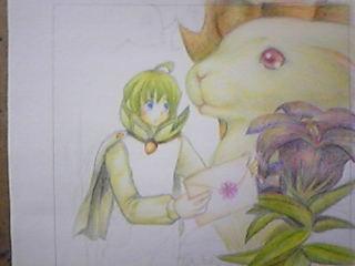 旦那作業・妖精の男の子を塗っていく。ここはわりと漫画的。