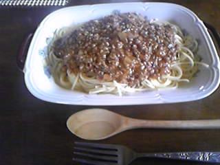 嫁料理・あんかけパスタ。節約レシピだが結構美味い。
