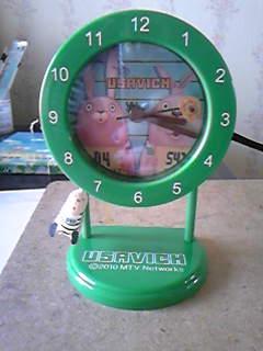 緑のウサギの振り子時計