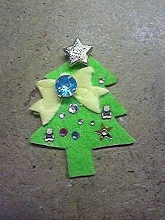 クリスマス本用フェルトモチーフ。
