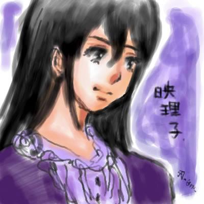 旦那画・番長こと映理子姐さん。だいたいモノトーンか紫っぽい人。
