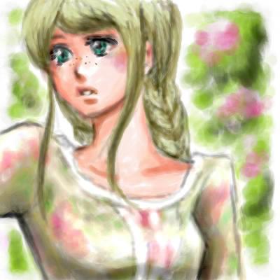旦那画・森ガールっぽい女の子、名前は「ダニエラ」。