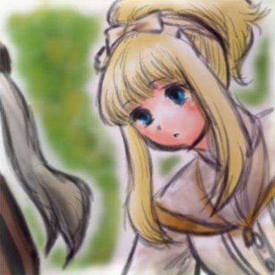 旦那画・サンホラのエリーザベト。フォトショ一発描き。